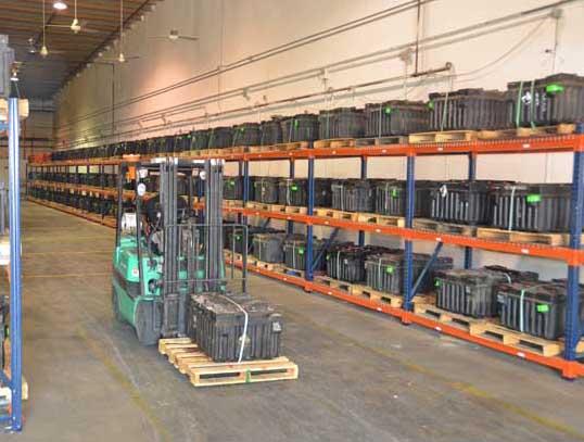 RBS Battery Storage Warehouse